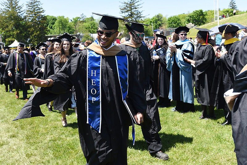 Dre Carpio of Beacon, N.Y, an academic counselor with Mount Saint Mary College's Higher Education Opportunity Program (HEOP), graduated with a Master of Business Administration degree.