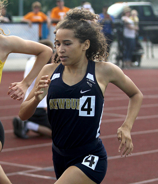 Amilia Wise-sweat set a new school record in the 800-meter dash. She will compete at the state meet in that event and in the 1,600-meter relay.