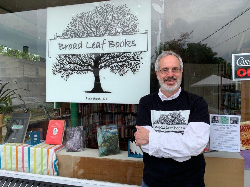 Alex Jakubowski recently opened Broad Leaf Books on Main Street in Pine Bush. Photo by Laura Fitzgerald