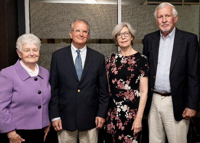 A fond farewell for four retiring Mount faculty, staff