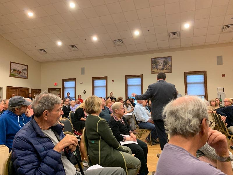 Medline Industries, Inc. and the Montgomery village board hosted a public meeting on June 4 so residents could ask questions about the 1.3-million-square-foot warehouse proposed in the Town of Montgomery.