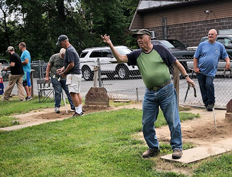 Walt Welsh, at 93, is still playing horseshoes.