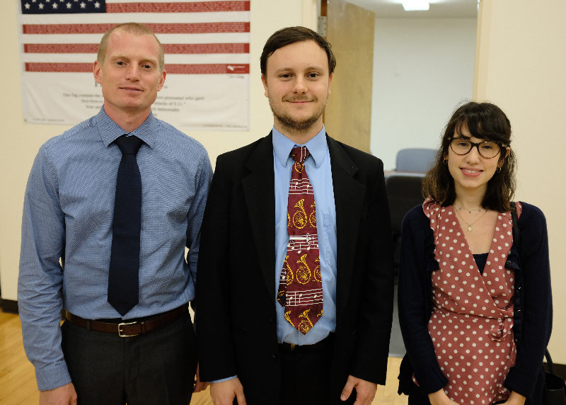 Three (of six) new teachers were appointed at Monday night's Marlboro School Board. L-R William Besimer, Andrew Mayce and Brittany Toapha.