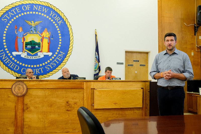 Ulster County Executive Pat Ryan paid a visit to the Marlborough Town Board to listen to their concerns and to the public.