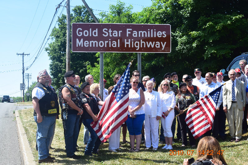 The Gold Star Families Memorial Highway a/k/a Route 300, was officially dedicated Monday, near the Dairy Queen at the intersection of Routes 52 and 300.