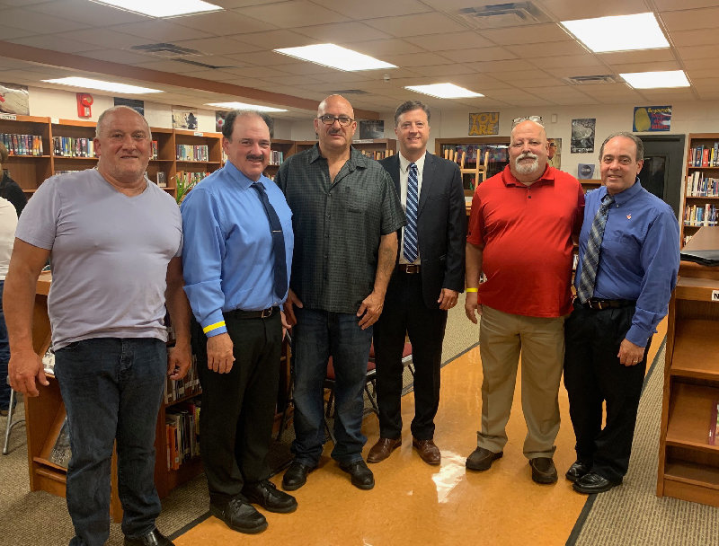The Marlborough Republican slate: L-R Russell DeSantis for Town Supervisor, Tom Corcoran for Ulster County Legislature, John Alonge for Highway Superintendent, Dan Jackson for Town Judge and Ed Molinelli and Scott Corcoran for Town Councilmen.