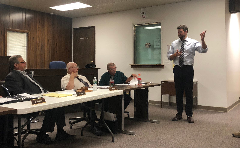 Ulster County Executive Pat Ryan addressed the Plattekill Town Board on July 17.