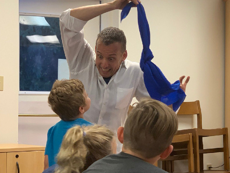 The kids enjoyed his over-the-top facial expressions and energy.