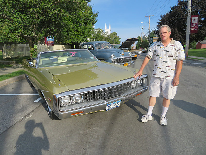 Steven Martindale shows his 1970 Chrysler Newport, one of only 1,120 models made. Photos by Laura Fitzgerald.