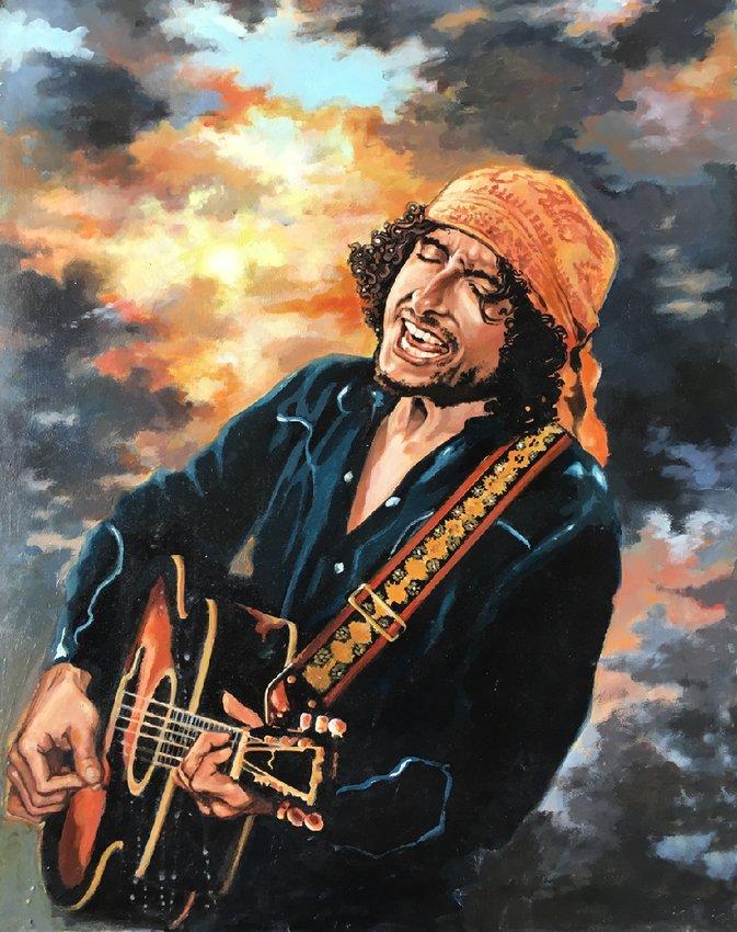 Bob Dylan ~ acrylic by Frederic Spione.