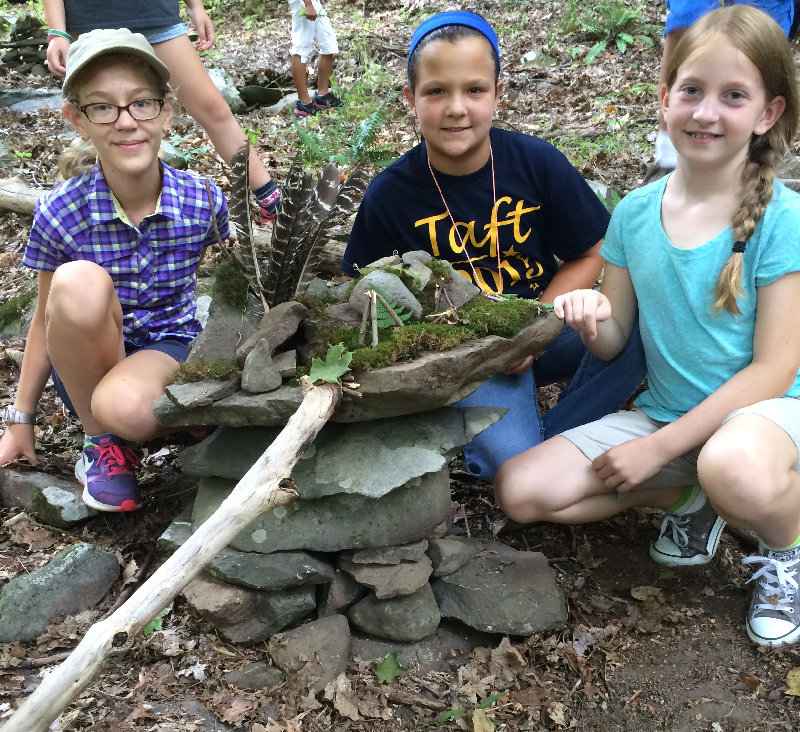 """On Sunday, September 8 at 10 a.m., join the Hudson Highlands Nature Museum for """"Fairy Houses and Toad Abodes."""
