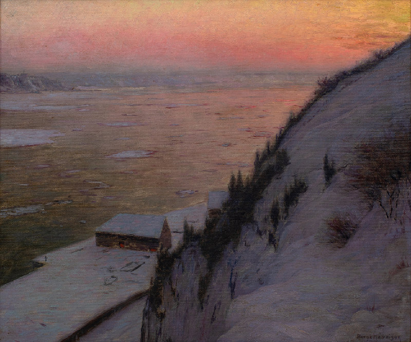 Birge Harrison, St. Lawrence River Sunset, n.d., oil on canvas, New York State Museum, Historic Woodstock Art Colony: Arthur A. Anderson Collection.