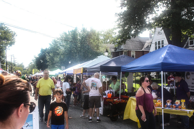 Main Street, Pine Bush, was bustling last year for the Pine Bush Harvest Festival.