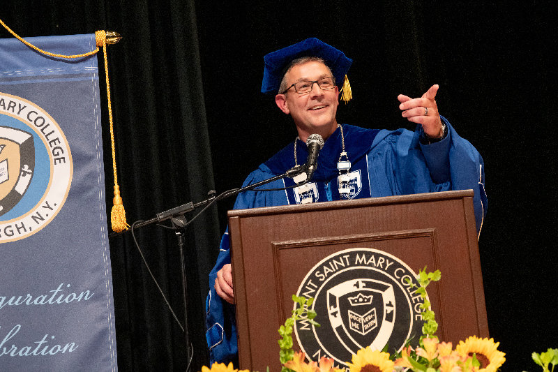 Jason N. Adsit is Inaugurated as Mount Saint Mary College's 7th President on September 13, 2019.