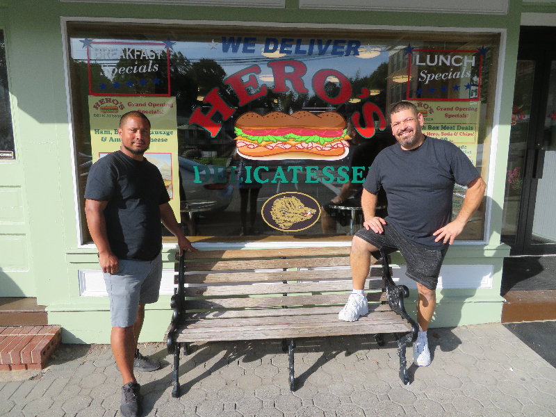 Co-owners Eric Tonnesen and Edwin Rodriguez opened Hero's Deli on Aug. 21 on Clinton Street in the Village of Montgomery, at the old Eddie's Deli. The pair completely gutted and renovated the building for a modern deli with seating, WiFi, TVs and more.
