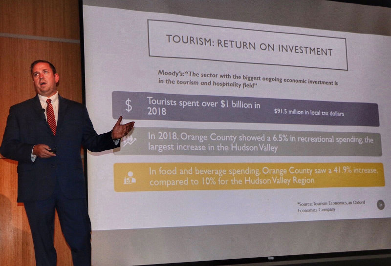 Orange County Executive Steven M. Neuhaus delivers his 2020 Budget Address on Wednesday, September 25 at the County's Emergency Services Center.