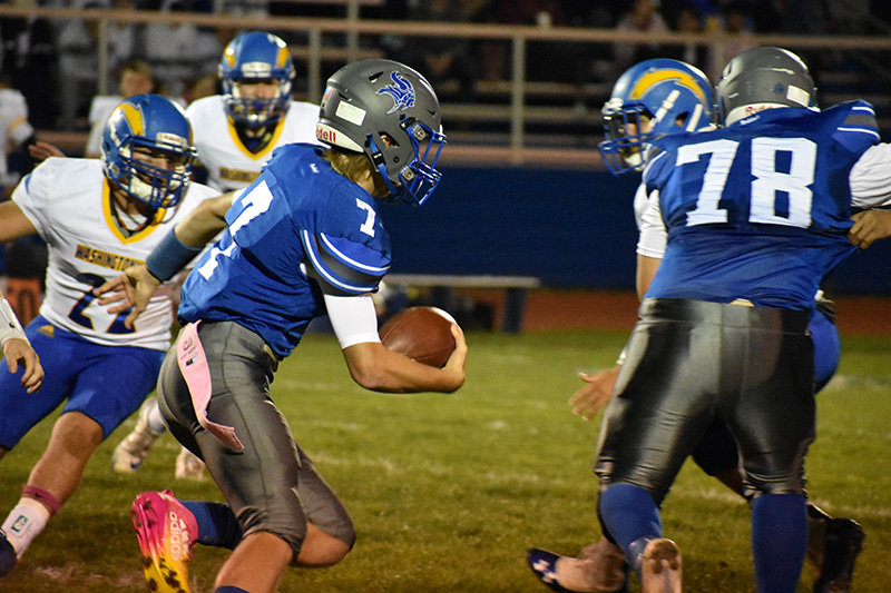 Valley Central's Nate DePew running with the ball in Friday's game against Washingtonville.