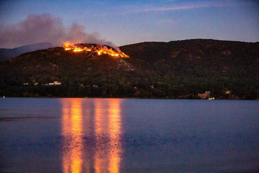 Fire along Breakneck Ridge in late September