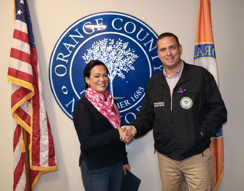 Orange County Executive Steven M. Neuhaus has named Karla Knight as October's Citizen of the Month Award winner.