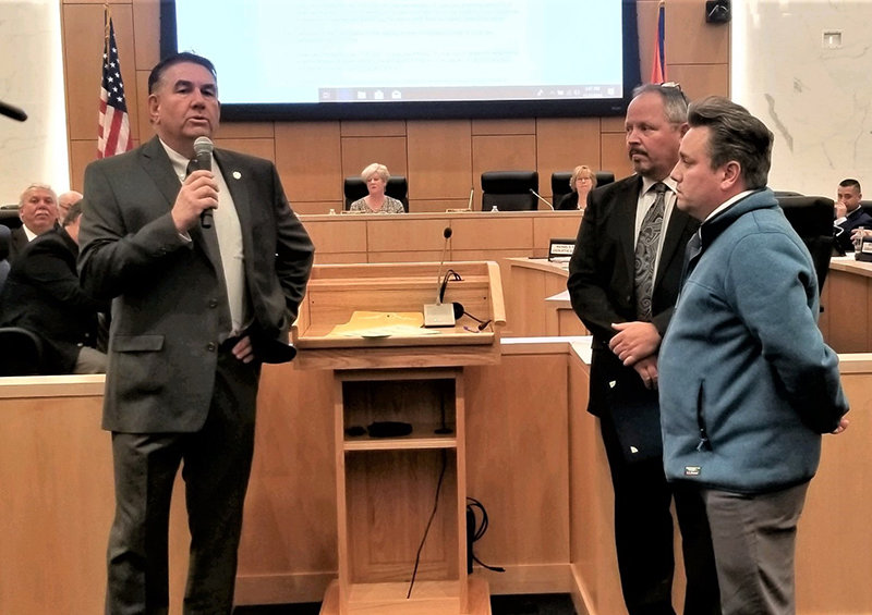 (L- r) Rob Sassi, Orange County Legislator, Stephen Brescia, Chairman of the Orange County Legislature and Chris Molinelli, Executive Director, HONOR.