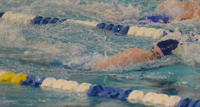 Newburgh's Shaylea Triller swims the 200-yard freestyle during Thursday's Section 9 preliminaries.