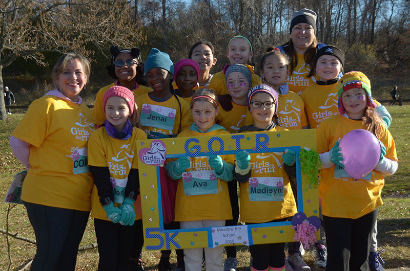 The annual Girls on the Run Hudson Valley 5K was held Saturday morning at Rockland State Park . The Meadow Hill team posed for a photo after the run.