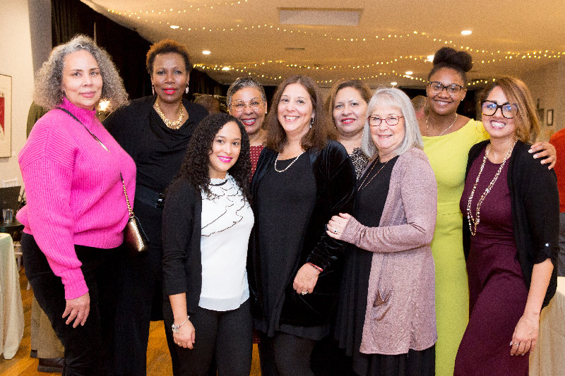 MiSN Staff : (l. - r.) Ramona Burton, Violet Cleary, Rosanny Rodriguez, Giovanna Rogow, Stephanie Sosnowski, Leslie Pomales-Diaz, Lynda Brady, Delorie Williams, and Maria Vargas.