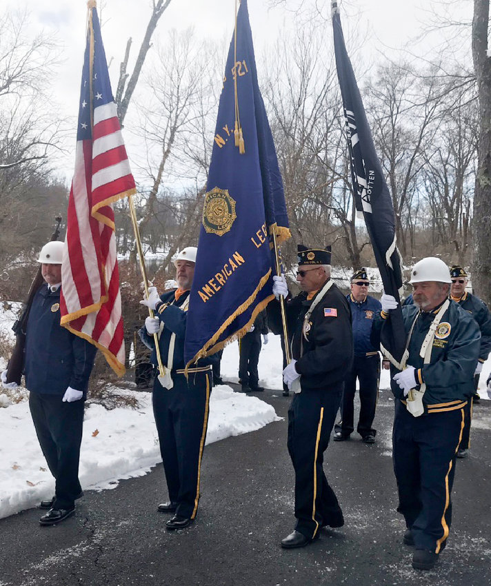 The VFW Post 2064 of Maybrook marches at Pearl Harbor Remembrance Day.