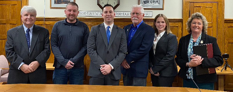 Town of Montgomery officials pose for a photo at last Thursday's reorganization meeting: (l. - r.) Town Justice Fred Gorss, Highway Superintendent Shaun Meres, Supervisor Brian Maher, Councilman Ron Feller, Councilwoman Kristen Brown and Town Clerk Tara Stickles.