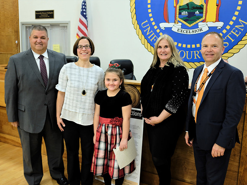 Olivia Riley (pictured with teacher Alicia Nennetti) was named the Marlboro Elementary Student of the Month for December.