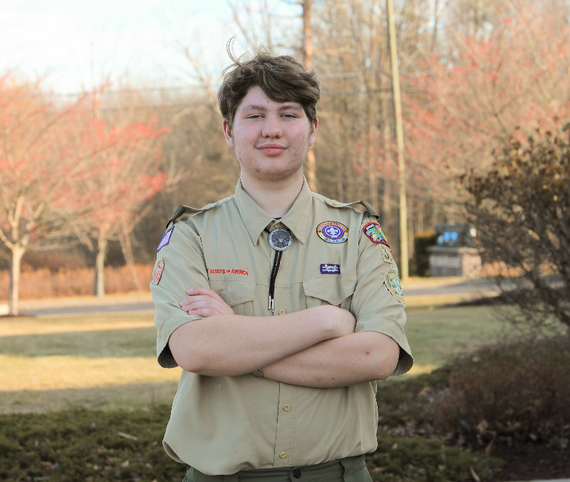 Connor Hylas wants to install a monument at the Pine Bush American Legion Post.