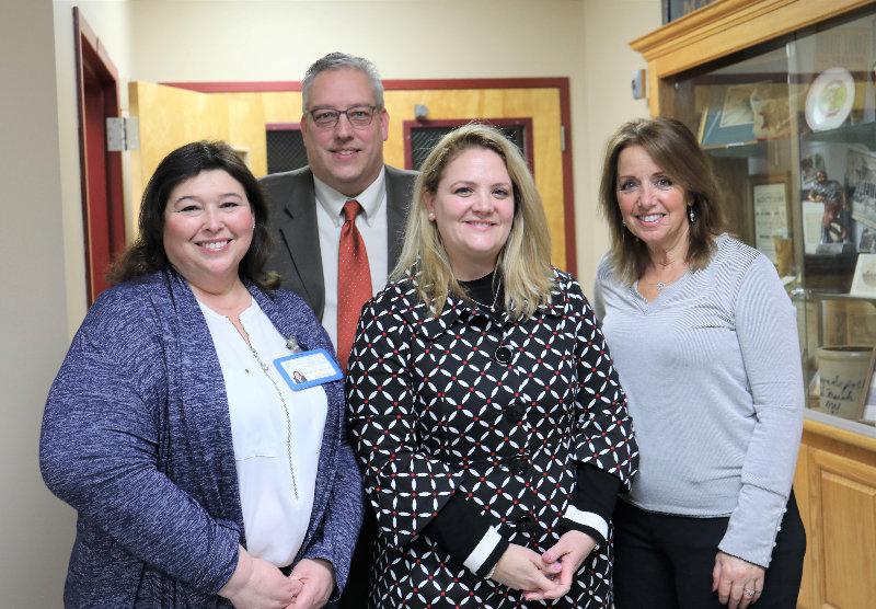 L – r: Paula Blumenau and Sean Gerow of Jewish Family Service, Heidi Johnson of Safety Net and Domanie Ragni, Town of Crawford.