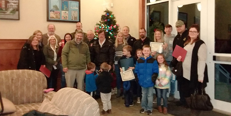 Winners of the annual Shawangunk Sparkle & Shine Holiday Decorating Contest were honored at last week's town board meeting.