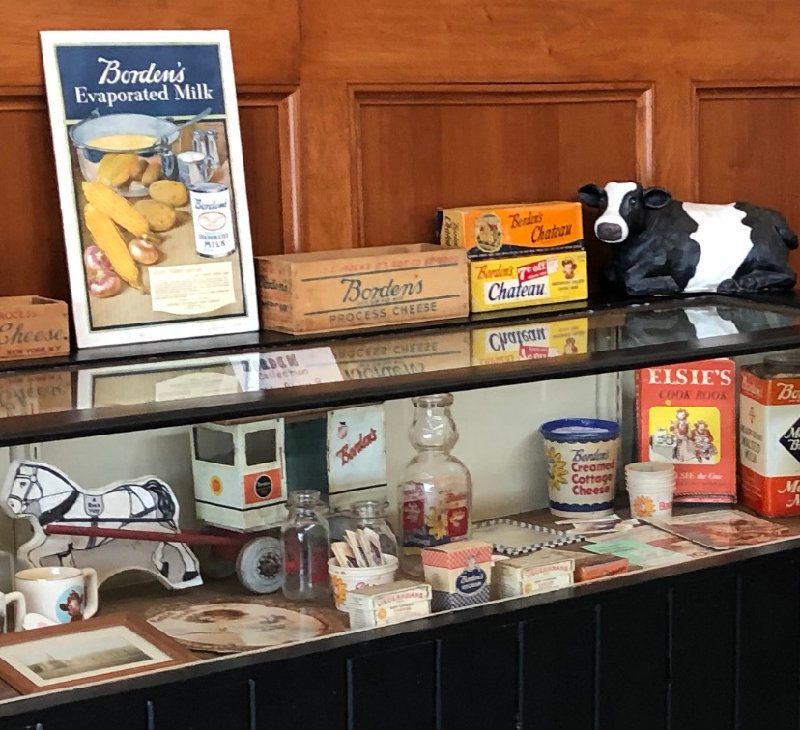 Vision of Wallkill's display of Borden Inc. memorabilia. This was displayed at Shawangunk Town Hall two years ago.