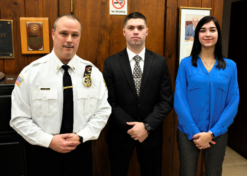 Last week the Lloyd Town Board hired Lt. James Janso (L) as the Acting Police Chief and Shane N. Haley as a part-time Police Officer and Jasmine L. Lambert as a part-time Dispatcher.