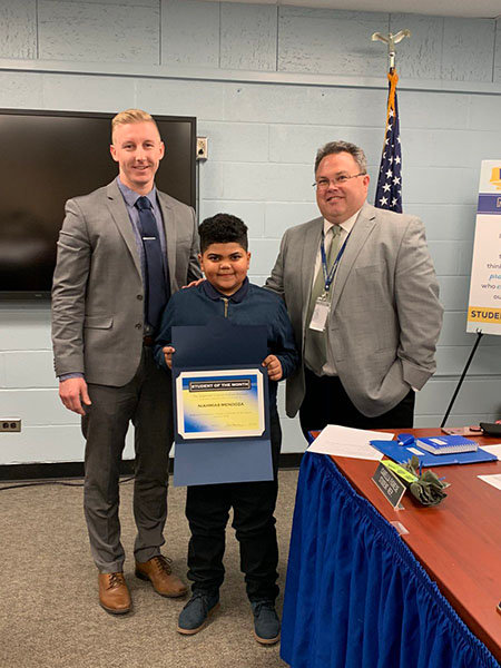 Niahmias Mendoza, Highland Elementary Student of the Month.