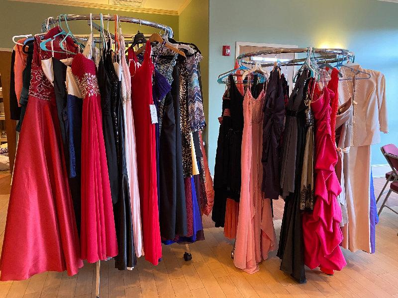 The dress shop at Goodwill Church.