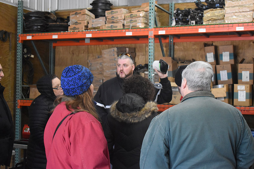 Wayne Vradenburgh leads Saturday's water department tour.