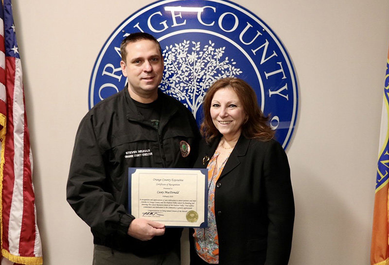 Orange County Executive Steven Neuhaus with Casey MacDonald.