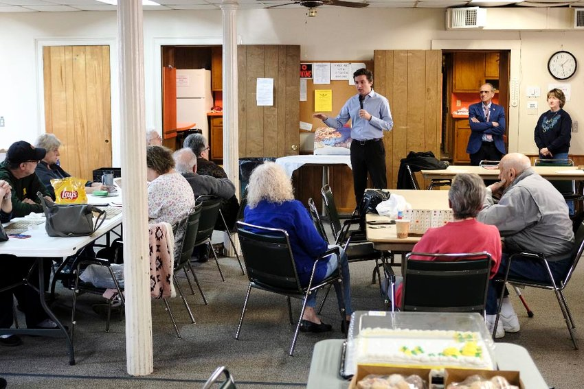 Sen. James Skoufis updated the Marlborough seniors on state issues that affect their lives.