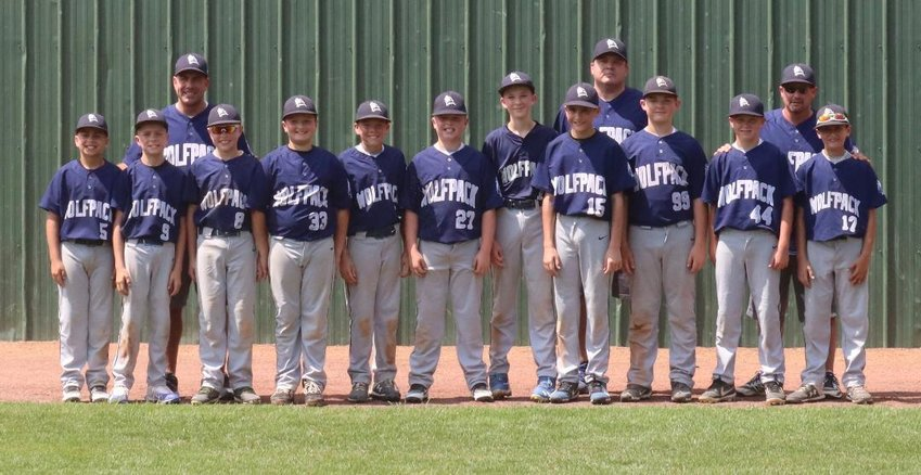 The 2019 Highland Wolfpack 12-and-younger baseball team. The Wolfpack was scheduled to play at the Cooperstown Dreams Park in August but the tournament was canceled due to the coronavirus outbreak. Back row (left to right) Coach Mike Forzano, Coach George Salinovich, Coach Joe Gatto Front row: Anthony Forzano, Nick Forzano, Preston Ebert, Logan Ellison, Mikey Grant, Marco Garrity-Mangi, Micheal Secor, George Salinovich, Jason Scotto, Tommy Simpson, Bradley Gatto. Missing from Photo: Coach Matt Scotto, Wade Holsapple.