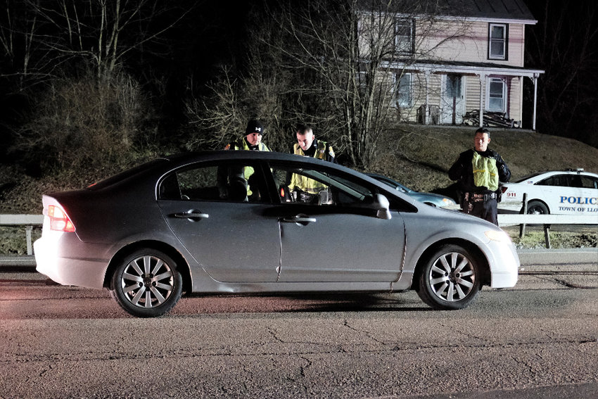 Marlborough Police Officers recently participated in a county sponsored Stop DWI Checkpoint on Route 9W on the border of Marlborough and Lloyd. Pictured L-R Officers Mike Sotanski, John Zambito and John Hurtado.