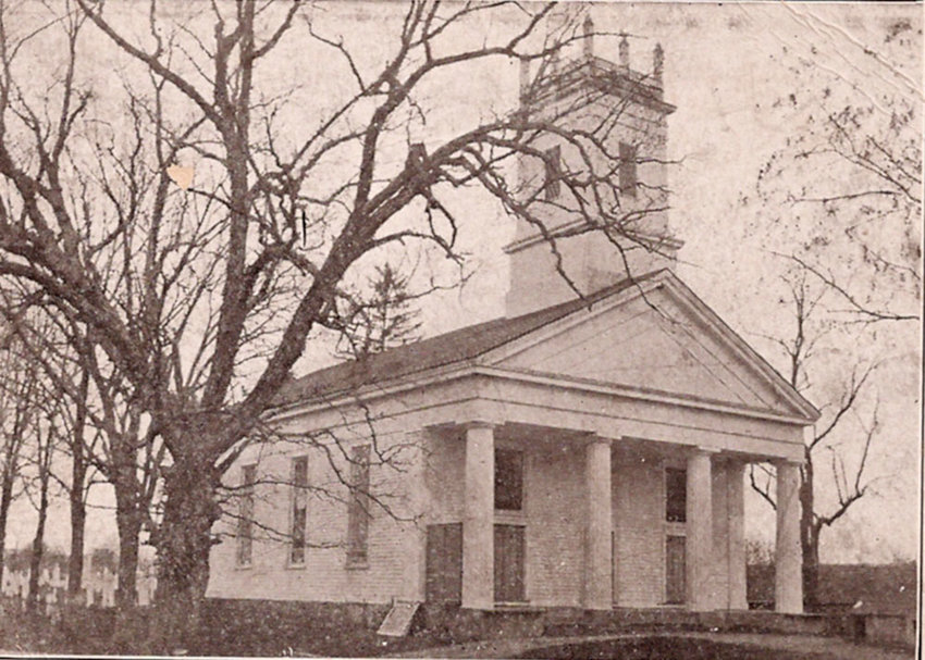 The New Hurley Reformed Church, as seen in a 1910 postcard.