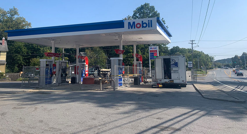 The owner of the service station at the corner of Fifth Avenue and South Plank Road has plans to upgrade his facility, but needs a zone change from the Town of Newburgh in order to do so.