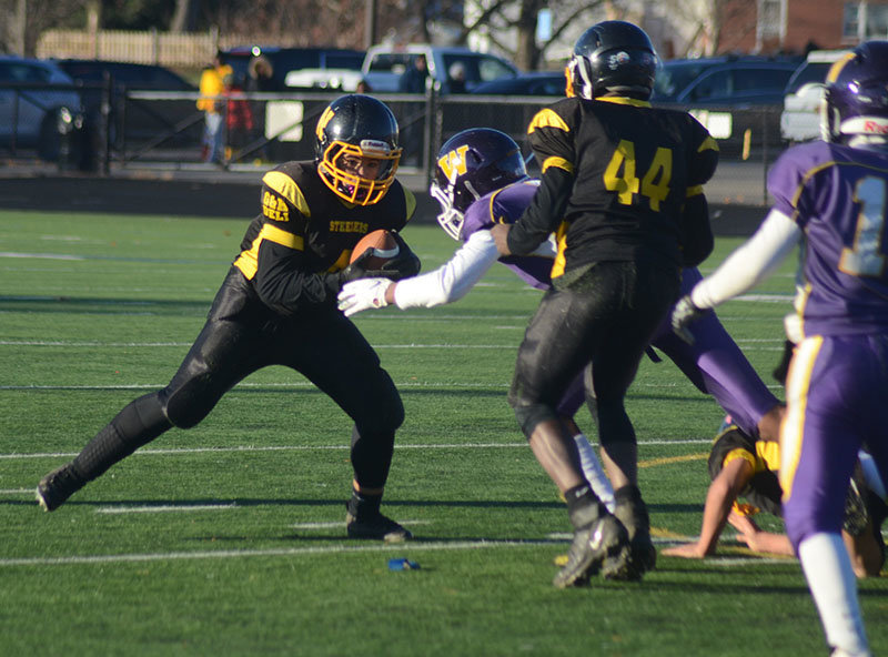 The Newburgh Steelers in action last season.