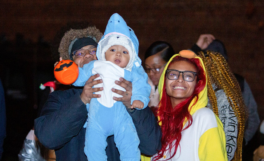 Family at the 2019 City of Newburgh Trunk or Treat.