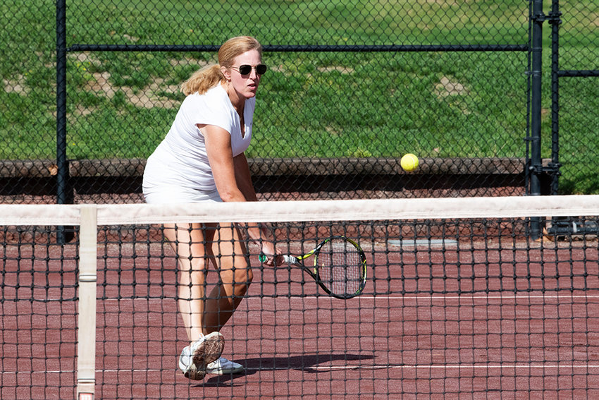 Sergeant Major MaryKay Messenger '88, Mount Saint Mary College Golf and Tennis Tournament honoree, played several tennis matches at the Powelton Club.