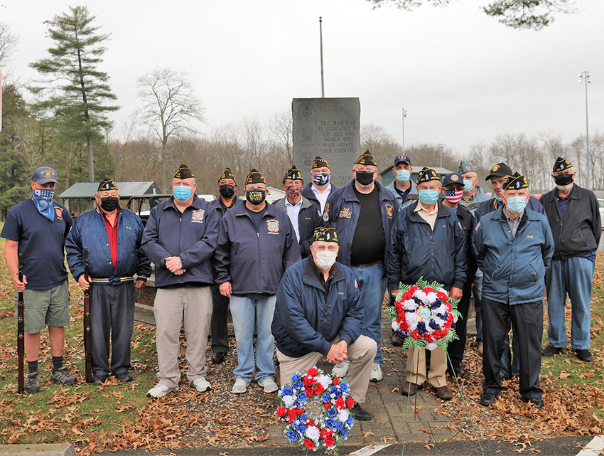 Veterans gathered in Pine Bush on November 11.