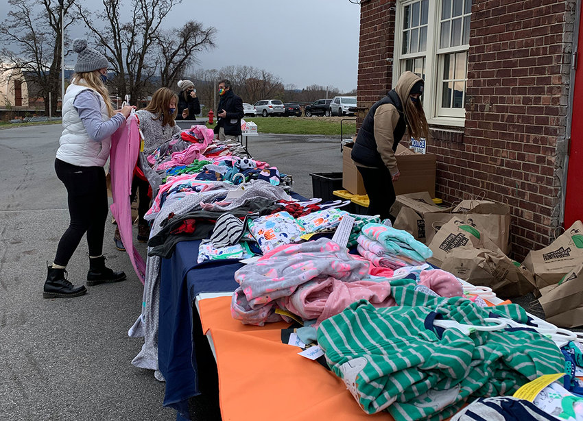 The New York State Laborers Union Local 17 staff distributed more than 350 pairs of pajamas and 400 pillows to those in need in Newburgh.