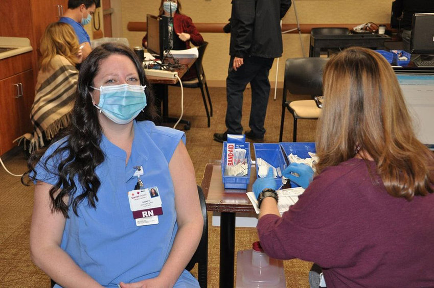 ICU nurse Sarah Joy received the COVID-19 vaccine, saying it has given her the hope that her and her co-workers needed.